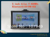 """Special   5"""" Atlas V Bluetooth, AVI-in Car GPS Navigation Built-in 4GB 800MHz 128MDDR"""