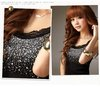 best selling sexy ladies cotton tank tops fashion lace beaded vest high quality  lace top free shipping 1piece