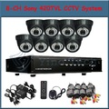 8 Channel waterproof Indoor dome Camera Sony CCD 420TVL CCTV Camera System 8CH H.264 Surveillance DVR  for DIY security Systems