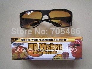Wholesale 200pcs/lot HD High Definition Vision Driving Wrap Around Sunglasses Wraparounds Glasses