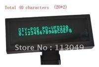 VFD220 POS Customer Pole Display 20X2 characters RS232/USB BLACK/ VFD220 customer display
