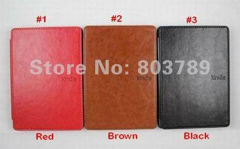 fahion PU Leather case cover for Amazon kindle 4,DHL EMS freeshipping,30pcs/lot