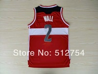 Free Shipping,#2 John Wall Rev 30 New Material Basketball jersey,Embroidery logos,Size 44-56