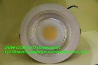 Professional! White Housing COB 20W/15W/10W Led Down Light Lamp Free Shipping