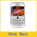 Original  White  blackberry 9900,unlocked 3g phone,QWERTY+touch 2.8inch,WiFi,GPS,5.0MP camera ,free shinpping