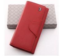 wallets for women 100% Genuine Cow Leather purse Small  Leather clutch bags many colors Free Shipping