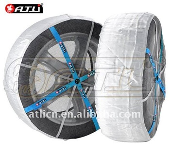 KA70- Autosock  Textile  snow chain,fabric chain tyre chain for car free shipping