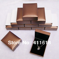 High Quality Coffee Jewelry Box 12PCS Pendant Box Chirstmas Gift Packaging Boxes for Earrings Display