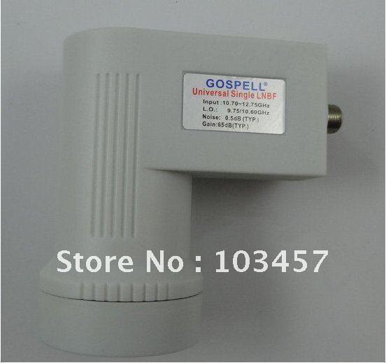 Free shippping,New dual-polarized single output ku band LNBF, waterproof, universal Ku-band LNB, with13/18V 0/22KHZ switch use(China (Mainland))