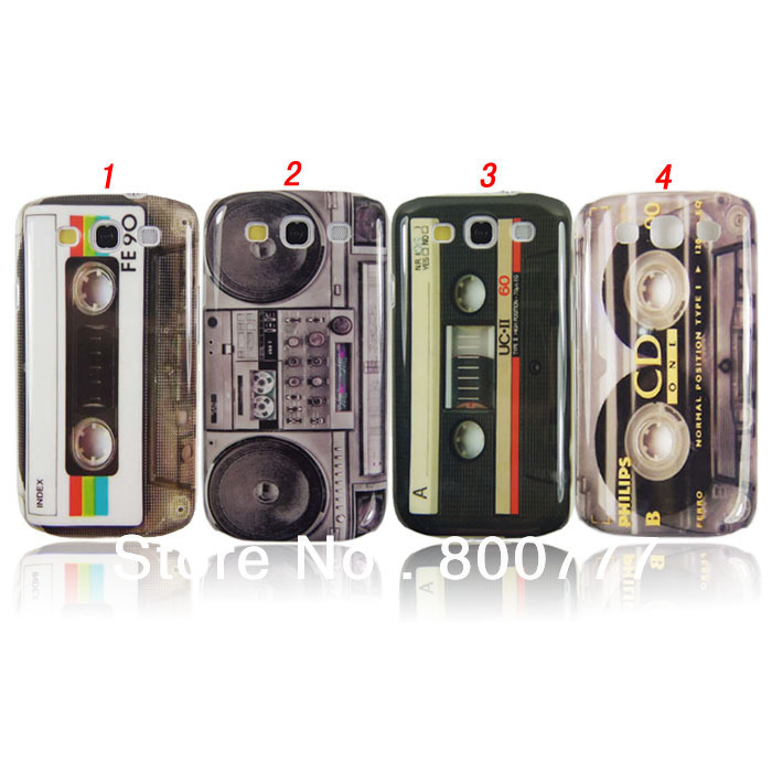 Retro Boombox CD Cassette Case for Samsung Galaxy S3 S III i9300,100pcs/lot(Hong Kong)