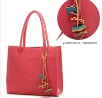 2012 Hot Sale Fashion simple women's handbag Fashion Women Bag Lady PU handbag PU Leather