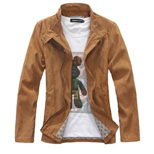 KINGTIME Free Shipping 2012 HOT   Men's Fur  Jacket   Fine  Style Hair Cortex  Mandarin Collar  Short StyleMen's Wear KTG17