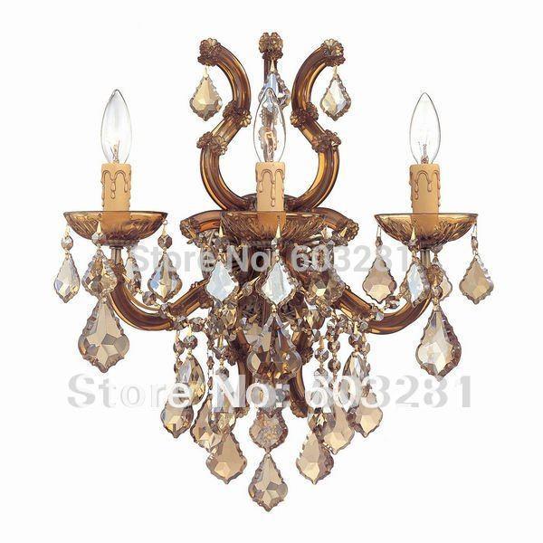 Autumn Lighting 4004 Golden Teak ,3 Light Maria Theresa Wall ...