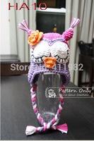 free shipping,5pcs/lot Baby Crochet OWL Hat Beanieshandmade knitting hats Cap Toddler hats baby girl caps Girls caps.