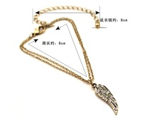 New arrival Sumni Angel wing  style foot anklet bracelet ,  Free shipping fashion anklets, mini. order 15USD (mixed order)