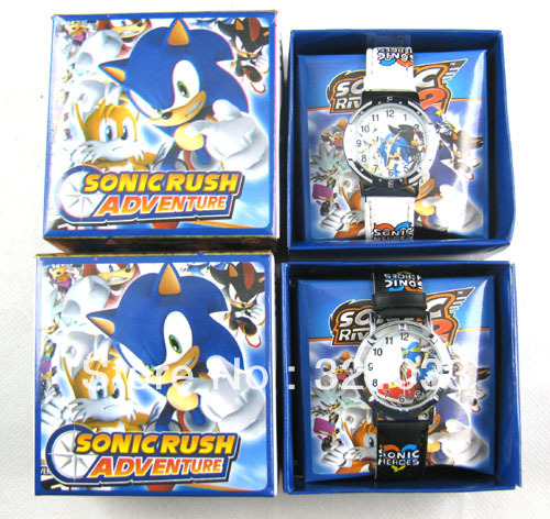 HOT! fashion watch,cool kids watch,cartoon watch,wristwatches for 20pcs Sonic the Hedgehog(China (Mainland))
