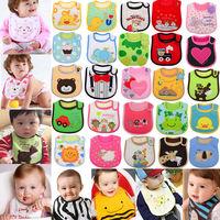 5pcs/lot New 2014 Cartoon Toddler Infant Baby Boys Girls Bibs Cotton Brand Carters