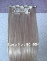 FASHION Hair Extension 20 inches 100% real hair silk 5 colors for choice