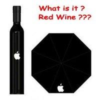 2012 new fashion umbrella bottle Beautiful APPLE bottle umbrella romantic gift nylon cloth Wholesale and retail
