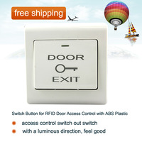 free shipping!!! Switch Button for RFID Door Access Control with ABS Plastic