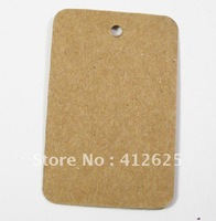 Free shipping Wholesale DIY Cardboard Blank price Hang tag Kraft Gift Hang tag 62x40mm WITH CORDS 1000pcs/lot