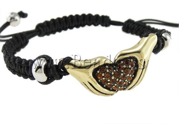 Браслет на шнурках Beads.us 100% Shamballa ,  34x16mm, 7,5  120208093702 браслеты шамбала shamballa original в днеперопетровске