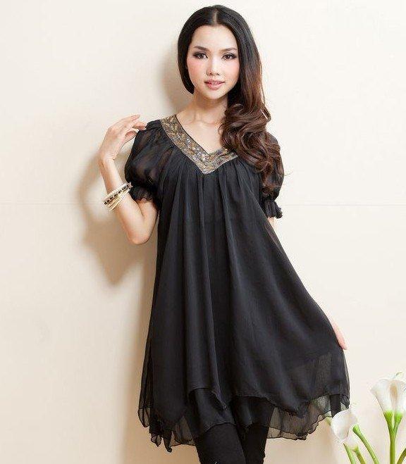 Beautiful  Dress Code Doll Collar Shiffon Summer Onepiece Dress Pregnant Dress