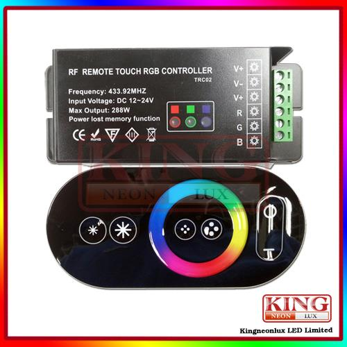 Magic dreamcolor RGB LED Controller,color wheel ring remote controller, RGB LED strip touch RF controller,24V/12V, free shipping(China (Mainland))