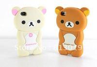 1Cute 3D Rilakkuma Bear Silicone Case Cover for iPhone