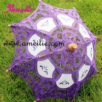 Factory direct wholesale Cotton canopy Radius 19cm Assorted colors mixed Wedding parasols Sun umbrellas