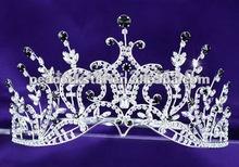 Concurso Partido nupcial do casamento espumante de qualidade concurso de beleza Black Crystal Alto CT1389 Tiara(Hong Kong)