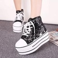 New arrival Women's sneakers.sequin thick heels shoes. walking shoes high Upper easy matching lace-up casual shoes sk2313