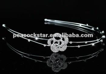Bridal Wedding Bride / Flower Girl Rose Headband Tiara CT1447