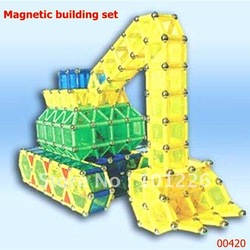 Magnestix Intellectual Magnetic construction Toy 420pcs magnetic building set Free shipping(Hong Kong)
