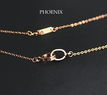 HEN001 Wholesale 14K Rose Gold Plated Screw Love Pendants Necklaces for women collier collares Mujer bijoux