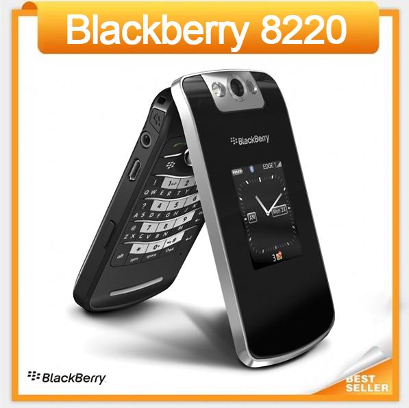 Original 8220 déverrouillé blackberry pearl flip 8220 rénové. téléphone cellulaire