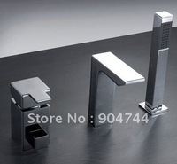 30%OFF 3 pieces single handle brass square spout bath tub faucet
