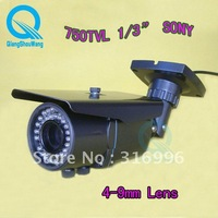 Hot 750TVL 1/3&#39;&#39;Sony CCD 4-9mm Lens Zoom Outdoor IR Video CCTV Security Camera AS11-7