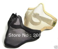 FREE SHIPPING FASHIONABLE Tactica Hunting  Black TMC Strike Metal Mesh  Wire Half Face  Mask