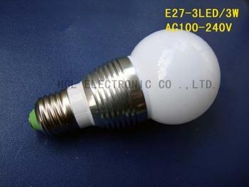 High quality 3W E27 led lights, high power  E27 3W led lamps ,3W E27 led bulbs free shipping 5pcs/lot
