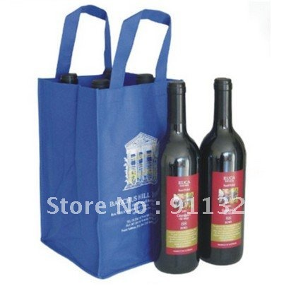 2012 eco friendly newest design non woven wine bag,non woven bottle bag(China (Mainland))