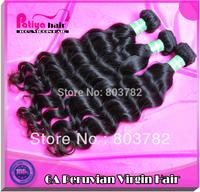 Free shipping 3pcs/lot 100% virgin peruvian hair, Grade 6A peruvian natural wave virgin hair