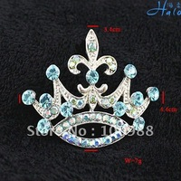 P233-233FI!Free Shiping!10PC/Lot! Trendy Crown Pin Brooch Silver Alloy Rhinestone Ladies Costume Fine Fashion Wedding Ornament
