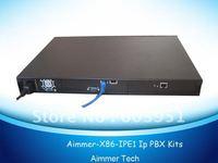 1U rack single E1/T1/J1 VOIP PBX Elastix system, TE110P Single E1 / T1 / J1 digital asterisk card included