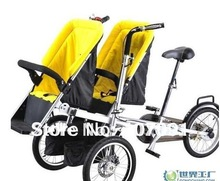2015 new child and mother stroller bike,baby & mom bicycle High infant seat three wheels Maternal and ChildFree Shipping(China (Mainland))