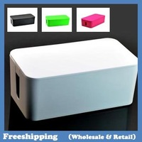 2014 Hot Cablebox Cable wire storage box four colors 24*13*10CM  free shipping