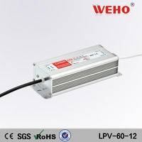 (LPV-60-12) 12VDC 5A LED Waterproof 60w led power supply 60w 12vdc power supply