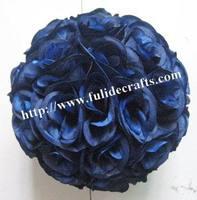 25cm royal blue pomander wedding flower ball,kissing flower ball,celebration decoration flower