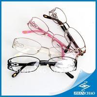 2013 New arriving Free shipping fashion women optical frame  frame white temple shining ornament eyewear RM00390-1(silvery)
