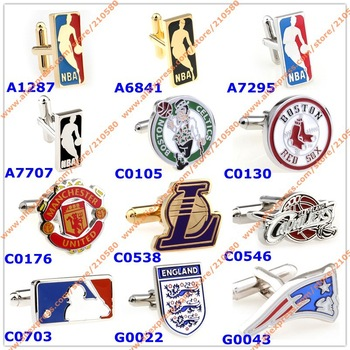 Fashion jewelry Metal Cufflinks For Men Sports Football Club Team Design Cufflink  Mens Accessories French Shirt Cuff links